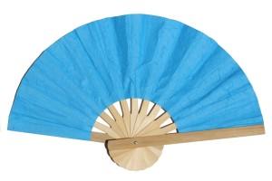 พัดกระดาษสา สีฟ้าเข้ม
