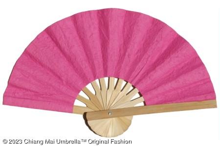 พัดกระดาษสา สีชมพู