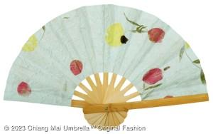 พัดกระดาษสา ดอกไม้แห้ง ของชำร่วย