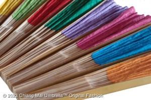 พัดกระดาษสา-สีต่างๆ